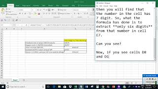 Extract only 6 digit number from a cell string in Excel