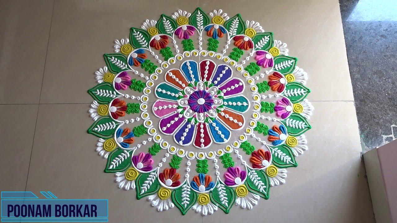 big and easy rangoli designs for festivals by poonam borkar