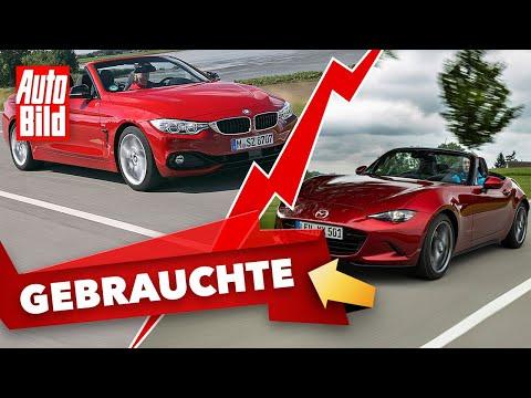 BMW 4er Cabrio & Mazda MX-5 (2021) | Das Gebrauchtwagen-Battle mit Conny Poltersdorf und Moritz Doka