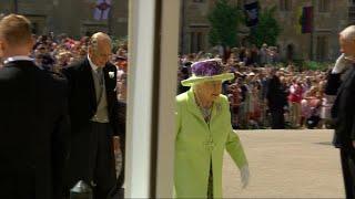 Queen Elizabeth II arrives for royal wedding