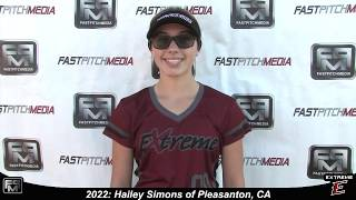 2022 Hailey Simons Second Base Softball Skills Video - Extreme Fastpitch