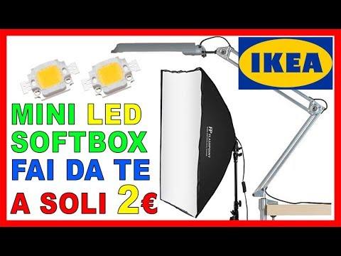 MINI SOFTBOX LED FAI DA TE da una vecchia lampada IKEA