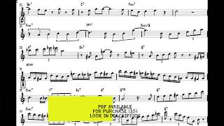 Sonny Stitt - I Can't Give You Anything But Love solo transcription