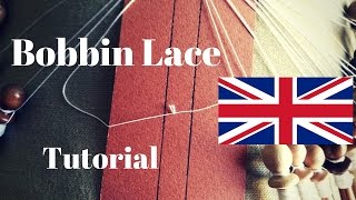 Bobbin Lace - How To Make The Lacemaker Knot (ENG)
