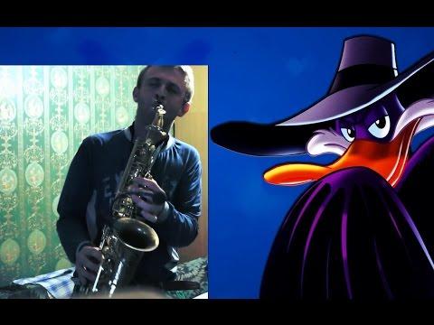 DARKWING DUCK THEME SAXOPHONE | Черный плащ на саксофоне | SAX COVER