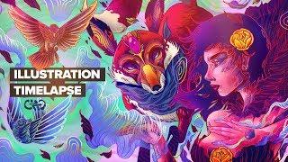 MAGIA / DIGITAL ILLUSTRATION TIMELAPSE / TUTORIAL
