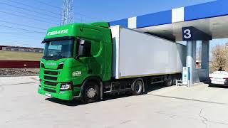Трейлер нового видеообзора про тест-драйв Scania на метане