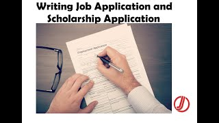 Lecture 16  Communication Skills  How to Write Job and Scholarship Applications