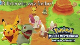 Gurdurr  - (Pokémon) - Pokémon Mundo Misterioso Portales al Infinito #8 ¡Materiales para Gurdurr!