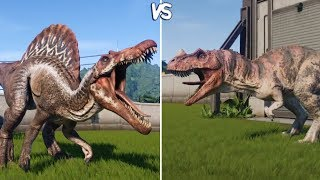 Jurassic World Evolution - SPINOSAURUS vs CERATOSAURUS -  Gameplay (PS4 HD) [1080p60FPS]