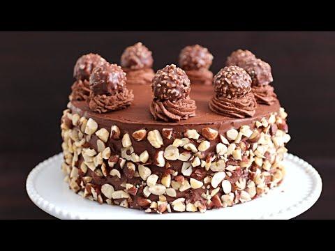 Ferrero Rocher Cake Recipe | How to Make Ferrero Rocher Cake
