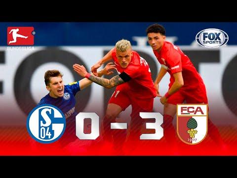 GOLAÇO DE FALTA E VITÓRIA FORA DE CASA NA BUNDESLIGA! Melhores momentos de Schalke 0 x 3 Augsburg
