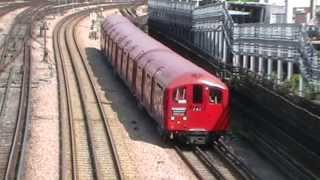 preview picture of video '1938 tube stock 10012 arrives and departs Harrow-on-the-Hill 19/05/2013'