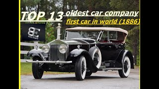 The Oldest car company in the world