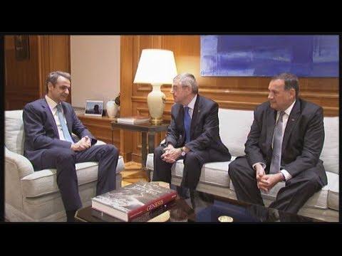 Συνάντηση του Πρωθυπουργού με τον πρόεδρο της ΔΟΕ Τόμας Μπάχ