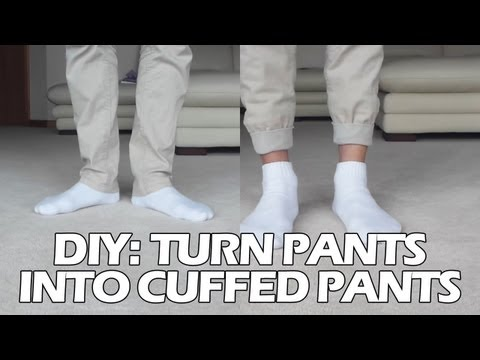 "DIY: Turn Pants into ""Jogger"" Style Cuffed Pants"