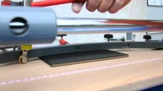 Wie schneidet man eine Fliese mit dem Fliesenschneider, Kurvenschnitt der Fliese