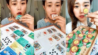 Eating Candy Poker Cards, ATM Cards Delicilous