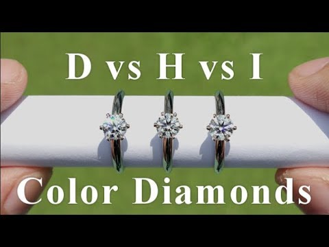 D vs H vs I Color Diamonds in Real Life Comparison