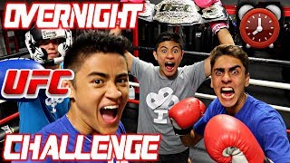24 HOUR OVERNIGHT CHALLENGE IN UFC GYM!!