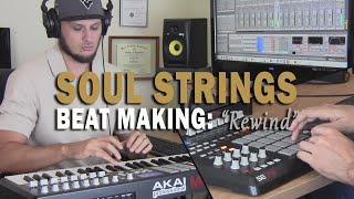 "Soul Strings Sample Hip Hop Beat Making Video ""Rewind"" (prod. by TCustomz) MPK49, MPD32"