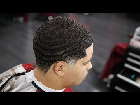 HAIRCUT TUTORIAL: BEST 360 WAVE BURST TAPER IVE DONE SO FAR