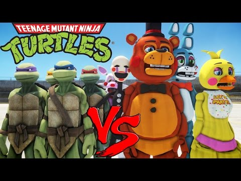 TEENAGE MUTANT NINJA TURTLES VS FIVE NIGHTS AT FREDDY'S