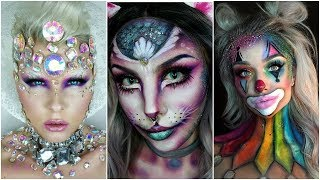 Top 17 DIY Halloween Makeup Tutorials Compilation 2019 Best Must See This,,,,,,,,,