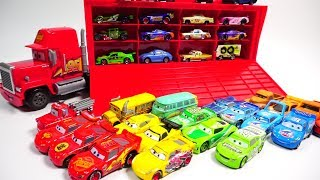 Learn colors disney cars vehicle name slide car toys GUGU COLOR Kids