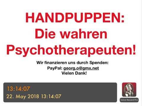 """PSYCHOTHERAPIE AUSBILDUNG: Handpuppen - """"die wahren Psychotherapeuten"""""""