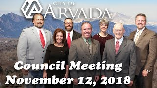 Preview image of Arvada City Council Meeting - Nov 12, 2018