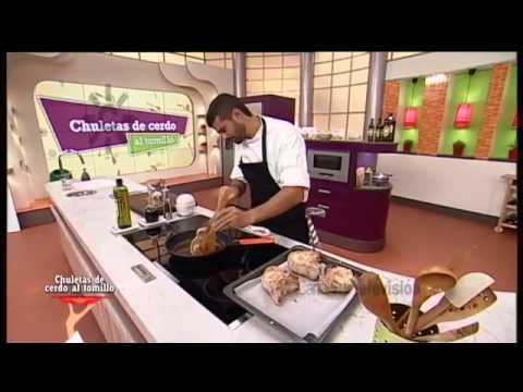 Receta: chuletas de cerdo al tomillo