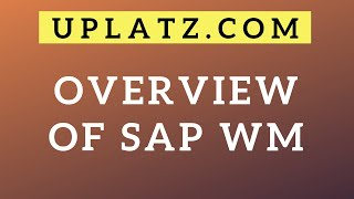 Overview of SAP WM (Warehouse Management)