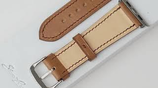 "Обзор кожаного ремешка ""Classic"" Chocolate для Apple Watch от бренда Slava Larionov"