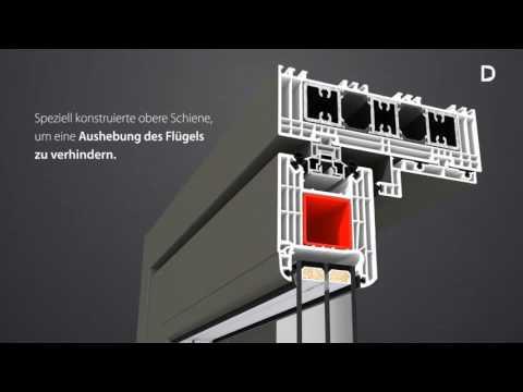 Hebe-Schiebe-Türen aus Kunststoff