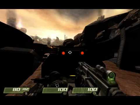 Quake 4 Walkthrough - Level 3 Hangar Perimeter by Overlord73
