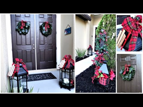 NEW!   Budget Friendly Christmas Front Porch Entryway Decor Ideas