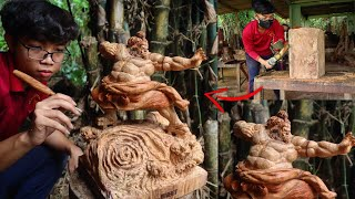 Wood Carving - ONE PIECE: Jinbei - Knight Of The Sea - Amazing Skills Techniques Woodworking