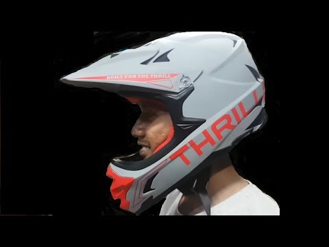 Helm Sepeda Thrill 980grams Dh Dj Bmx Am Full Face Size L 55-60 Cm