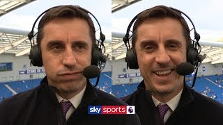 Gary Neville jokes with Jamie Carragher about his ideal Premier League title situation 😂
