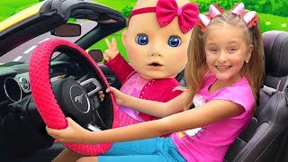 We are in The Car Song from Sasha and Baby | Nursery Rhymes & Kids Song