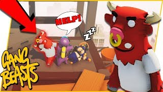 The Most OVERPOWERED Character In The Game! - Gang Beasts Gameplay