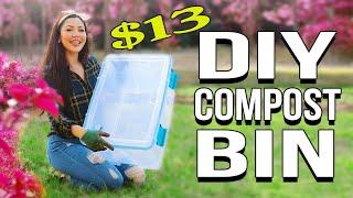 DIY Compost Bin for $13! Easy & Affordable - Gardening Tips