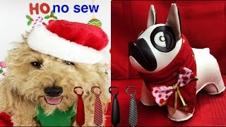 XMAS SCARF TIE CHRISTMAS BANDANA NO SEW CRAFT - DIY Dog Craft by Cooking For Dogs