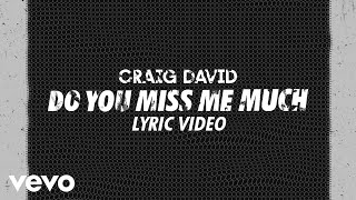 Craig David   Do You Miss Me Much (Lyric Video)