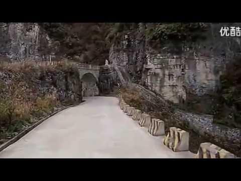 Most Dangerous Road in china- Hunan Tianmen Mountain Road