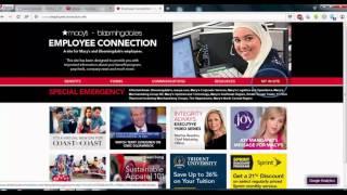 Learn Using www.employeeconnection.net Macy's Insite Guide