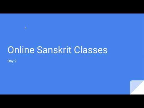 Sanskrit for Beginners by Ashok - Day 2