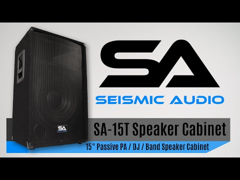 Pair Of Ed 2 Way 15 Pa Dj Speaker Cabinets With Anium Horns 350w
