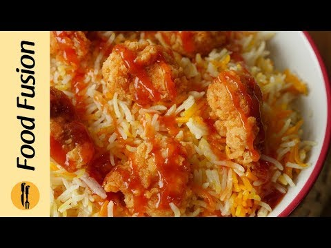 Arabian Rice With Popcorn Chicken(KFC Style)  Recipe By Food FUsion